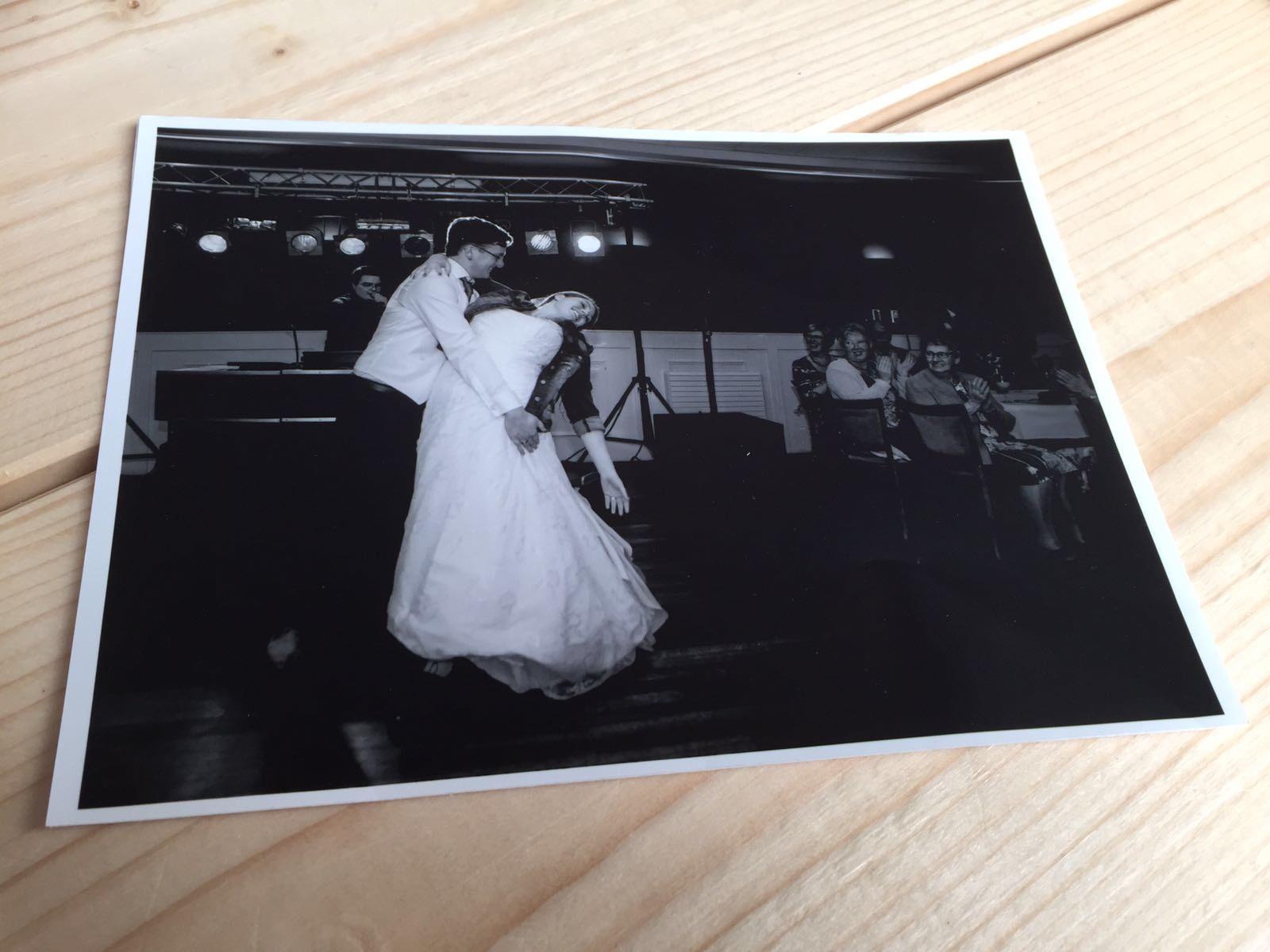 Mooie foto openingsdans bruiloft