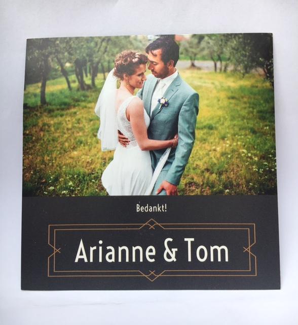 Bedankt! Arianne & Tom
