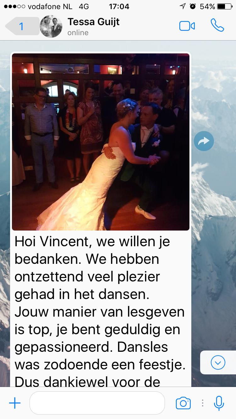Openingsdans bruiloft Anton en Tessa - bedankt - Vincent - Utrecht